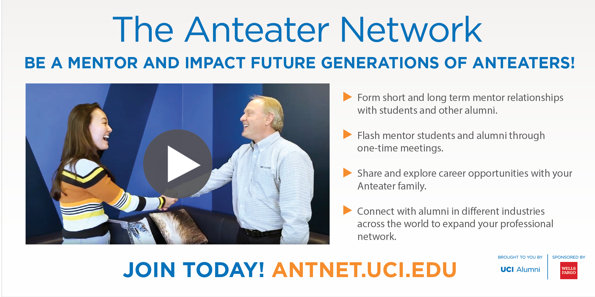 Join The Anteater Network at antnet.uci.edu
