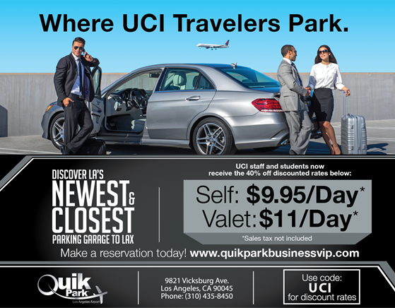 UCI Alumni Association Members Can Enjoy VIP Parking Rates At The Los Angeles International Airport Get Savings Of Up To 40 Off With Discount